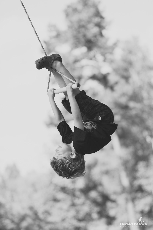 conyers ga photographer boy on rope swing