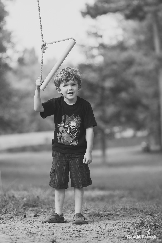 covington ga photographer portrait boy and swing