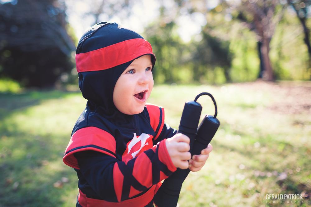 covington ga photographer halloween ninja portrait