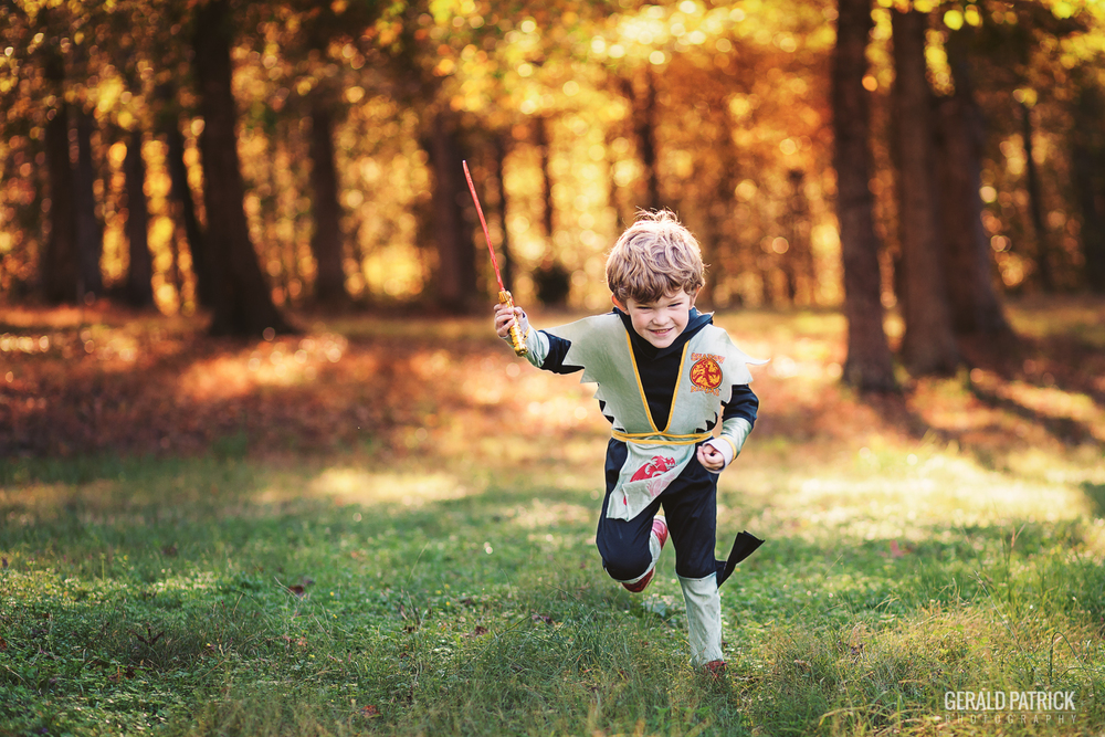 covington ga kids photographer halloween ninja action shot