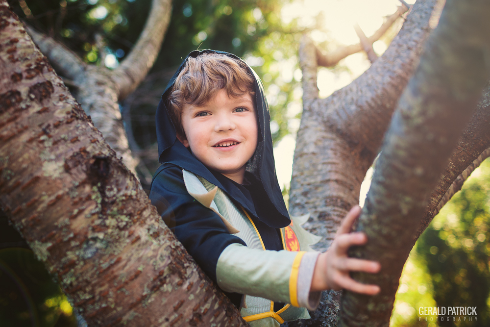 covington ga photographer halloween ninja in a tree