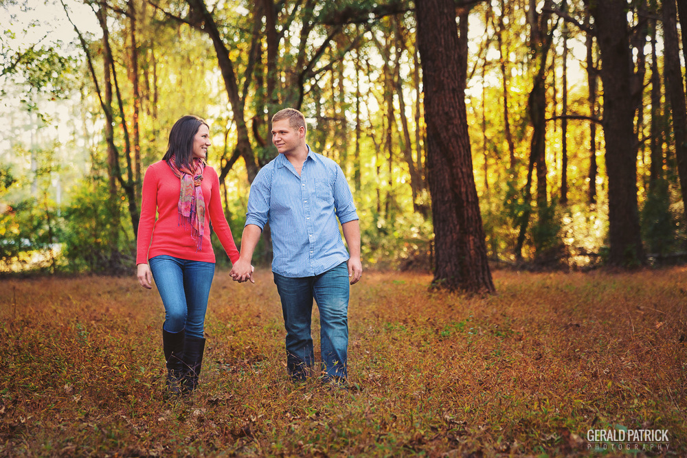 Covington GA photographer couple shoot in forest
