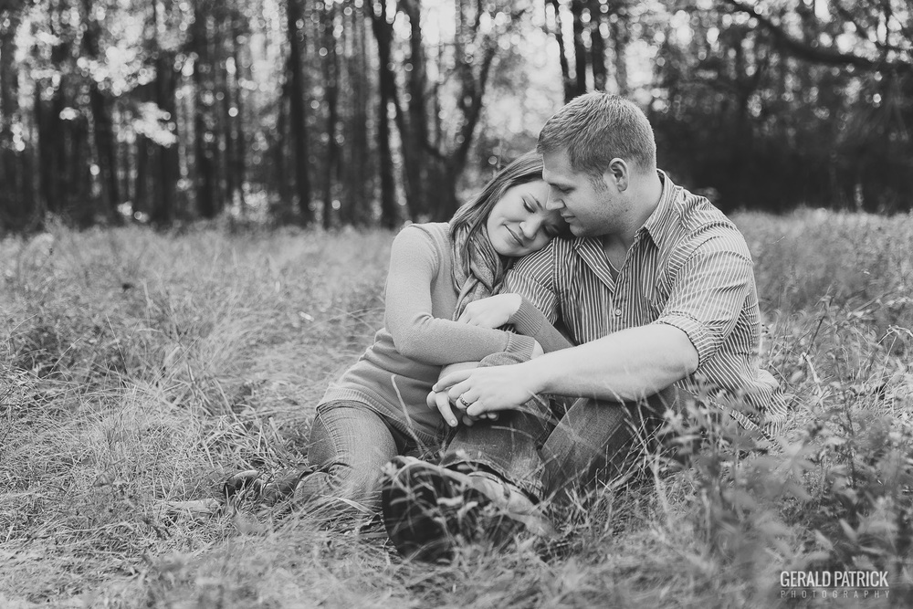 Covington GA photographer meadow engagement session