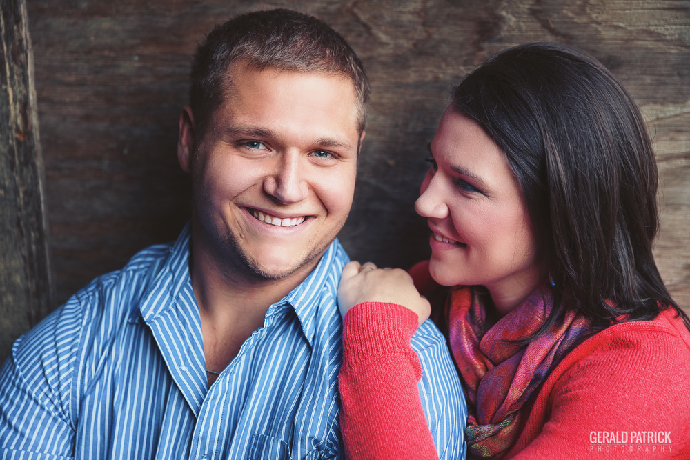 Covington GA photographer couple in barn romantic portrait