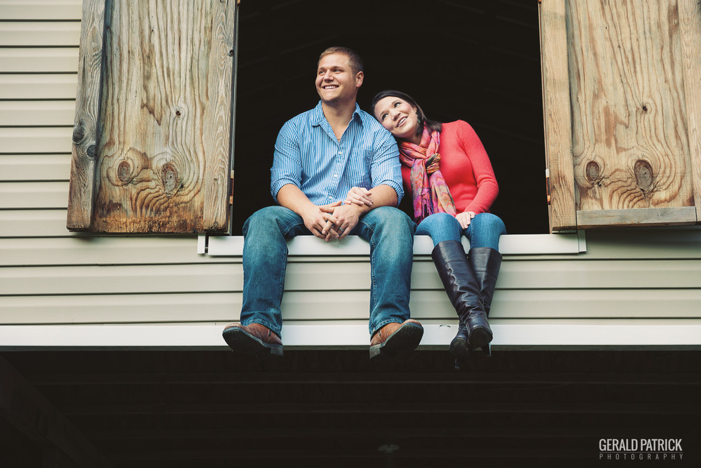 Covington GA photographer couple in barn loft