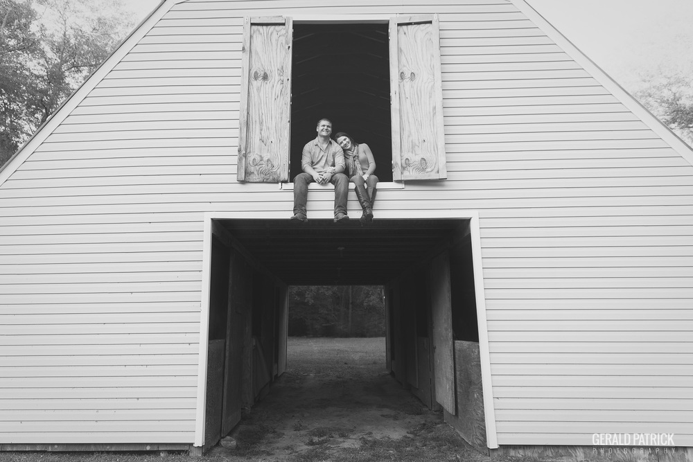 Covington GA photographer barn loft engagement