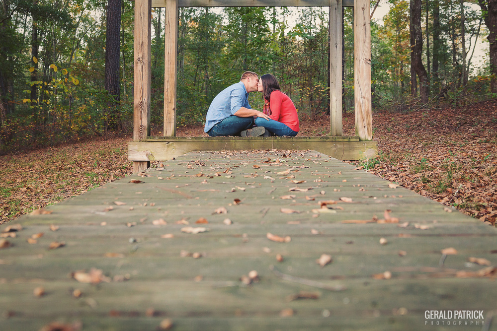 Covington GA engagement photographer romantic backyard photo session