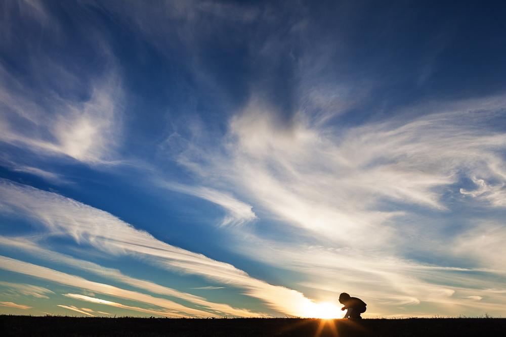 Photographer Covington GA planting cheerios Lake Varner sunset