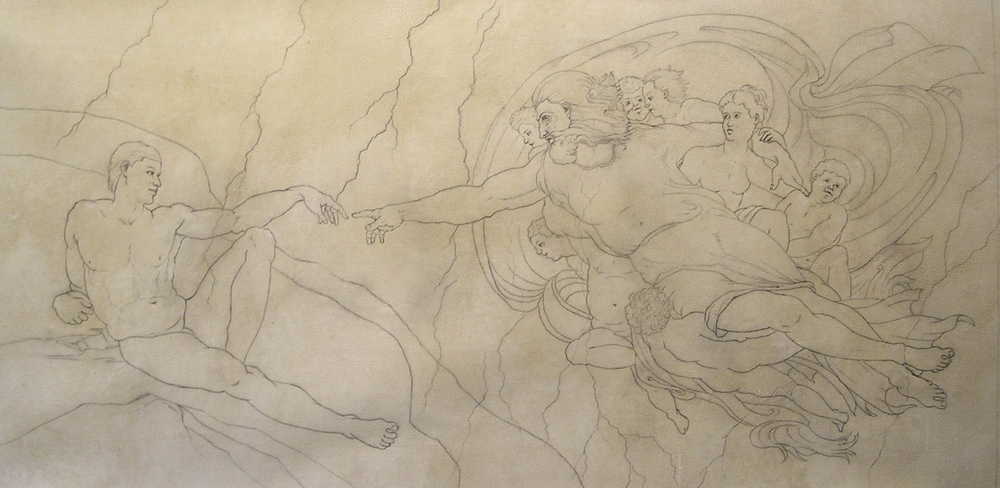 Creation of Man, Sketch