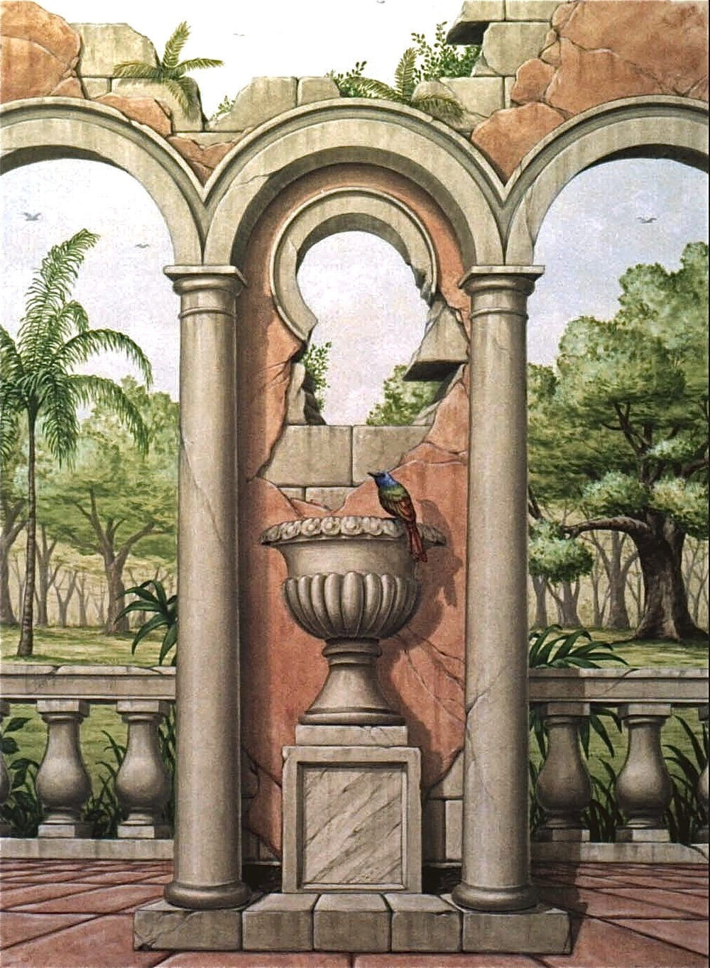 Italianate Urn and Arches