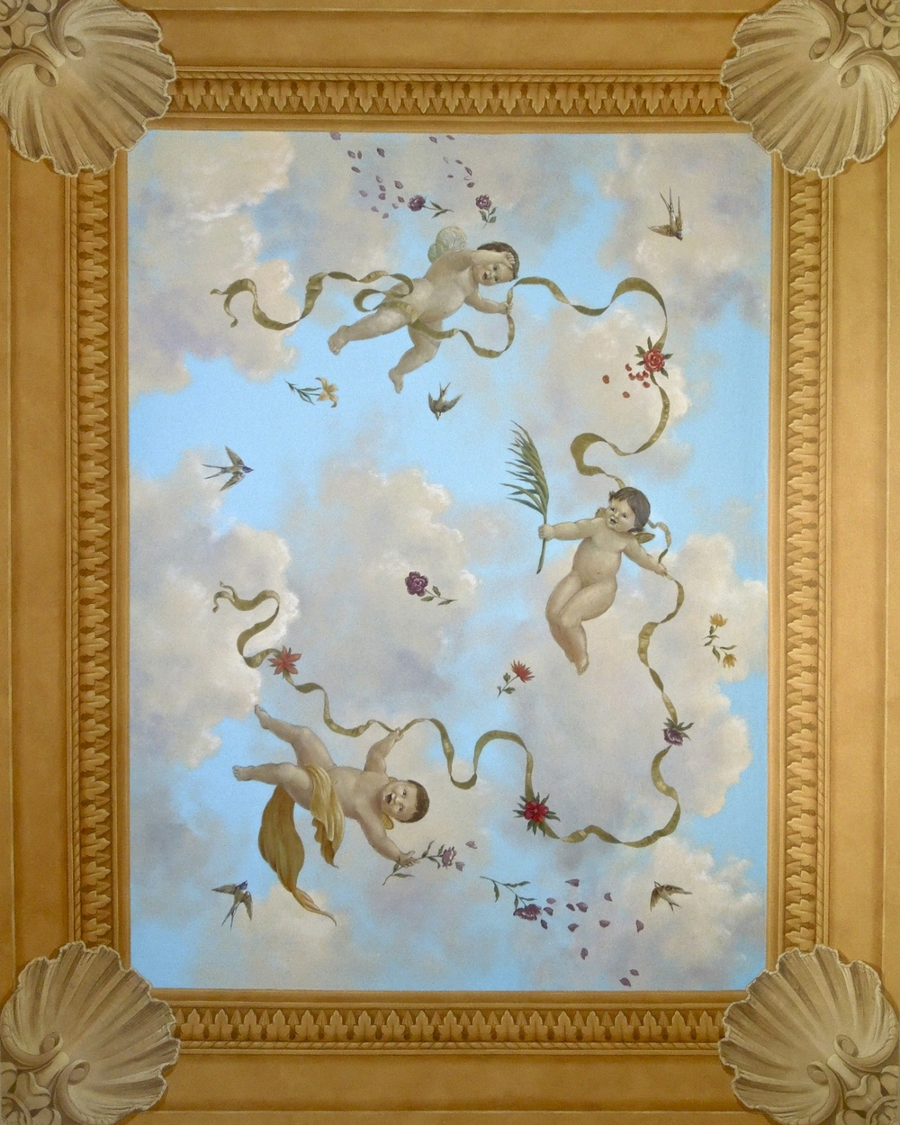 Coffered Sky with Cherubs