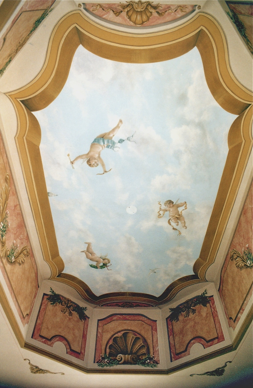 Ornament, Sky and Cherubs