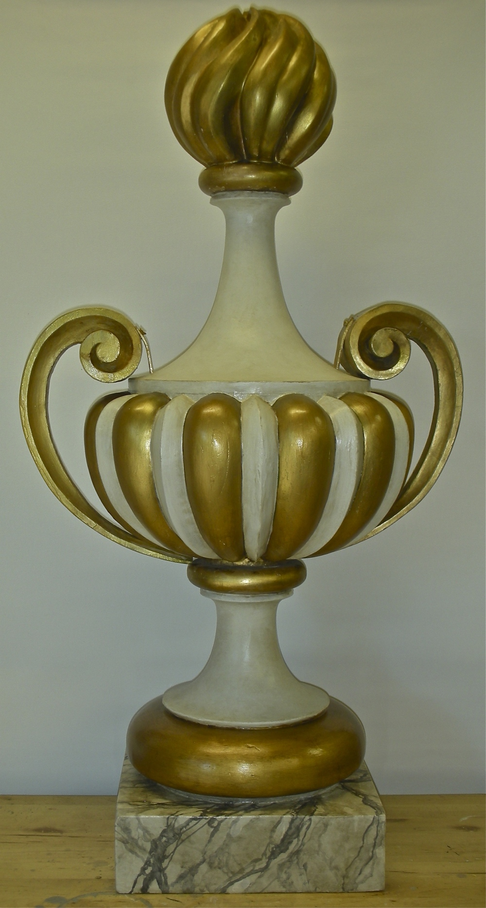 Gilded and Faux Marble Urn