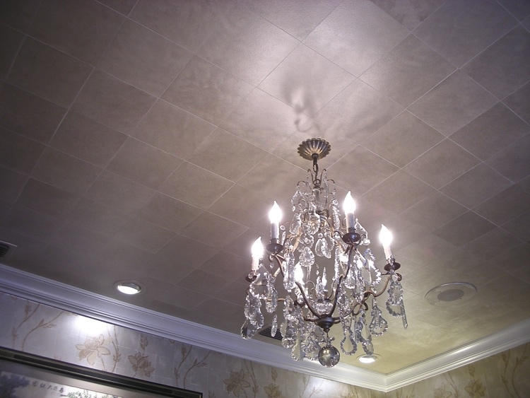 Ceiling, Faux Metallic Tile
