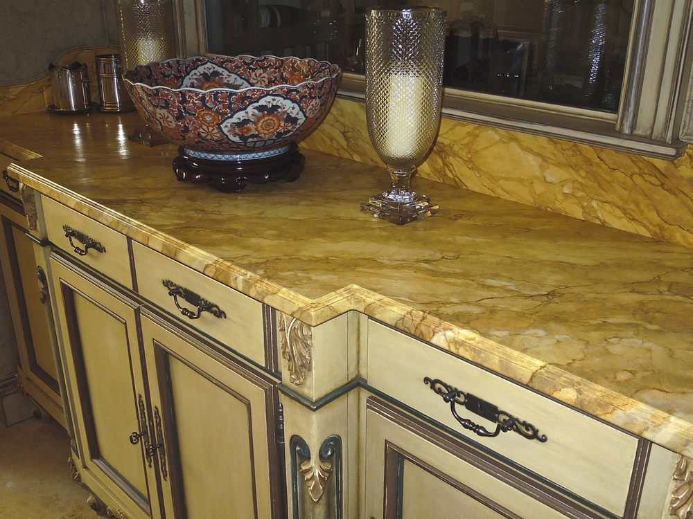 Faux Marble and Polychrome Buffet