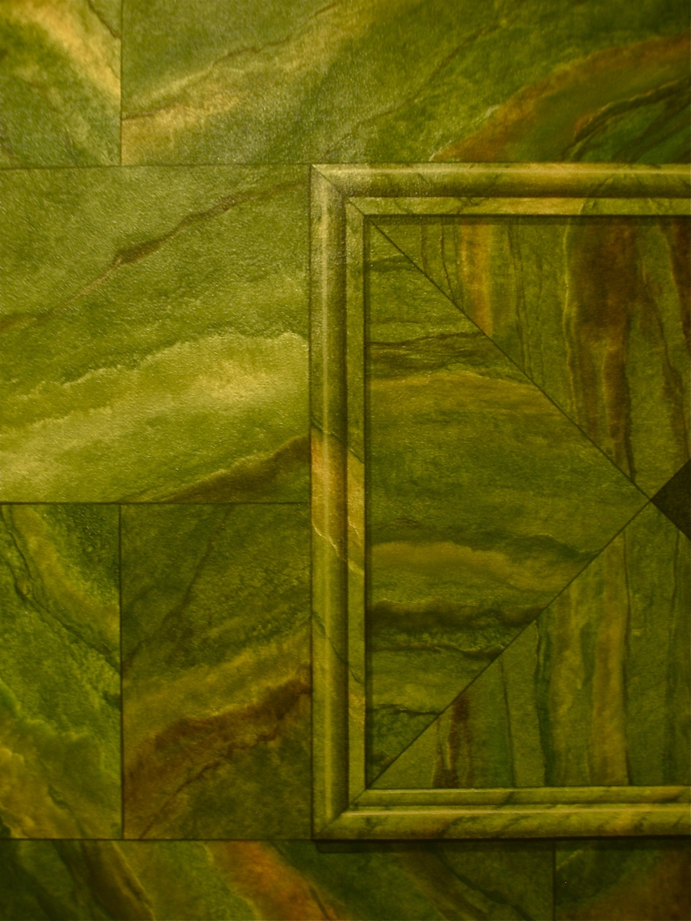 Faux Marble and Trompe L'Oeil Dado
