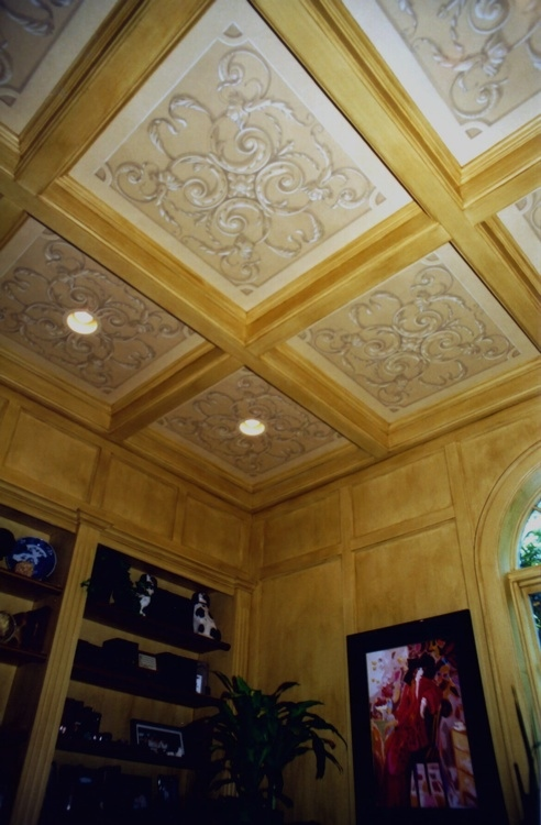 Coffered Ceiling, Ornament and Glazed Walls