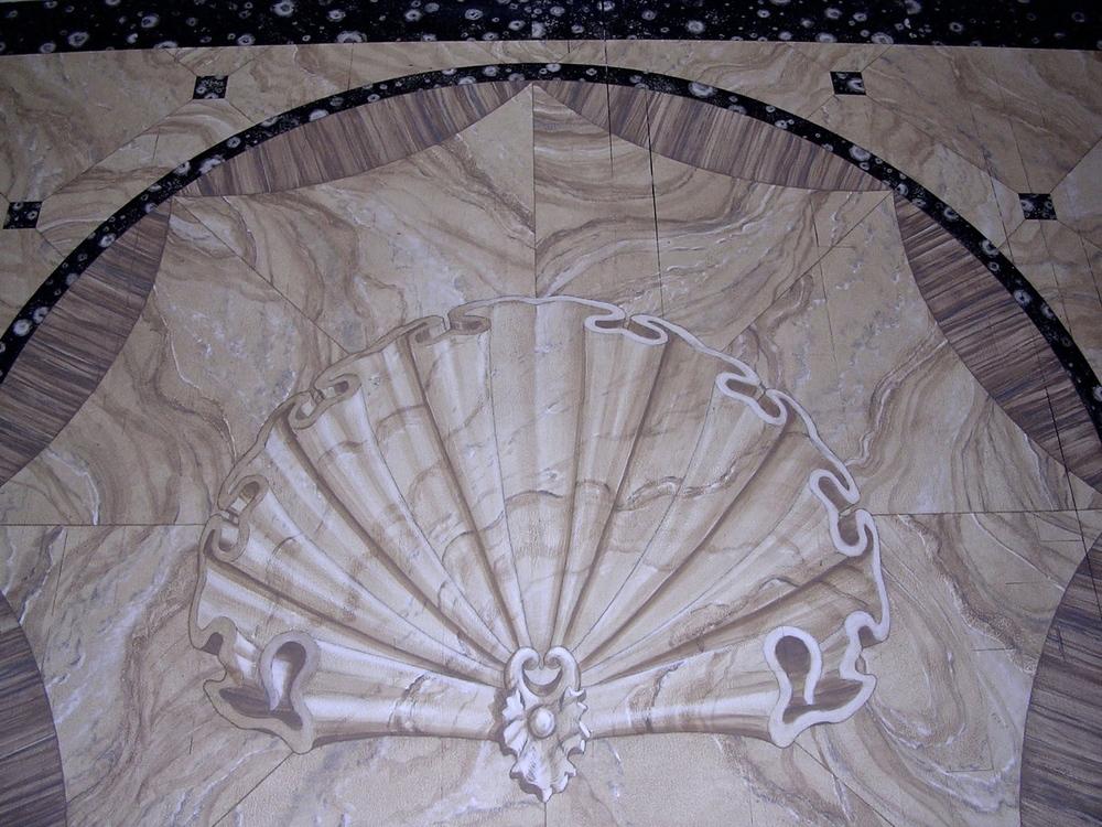 Faux Marble Floor
