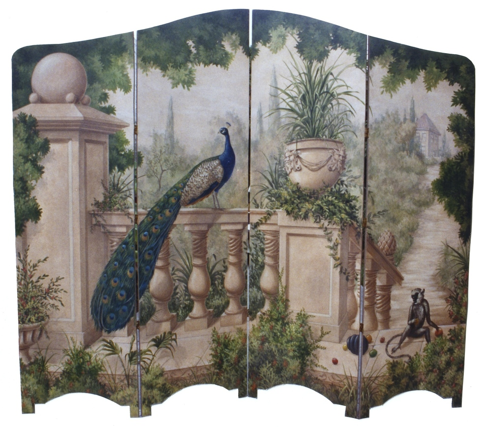 Painted Folding Screen