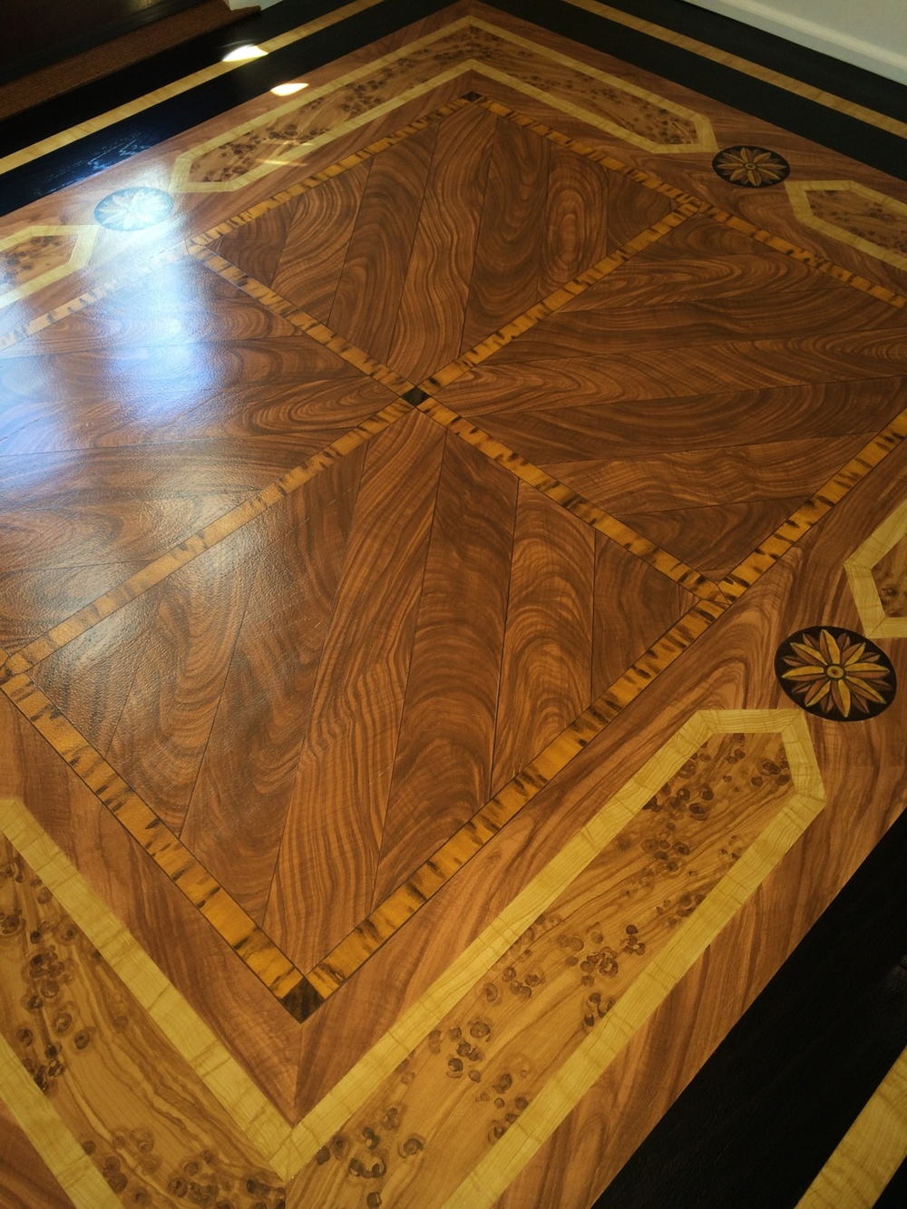 Faux Wood Marquetry Floor, detail
