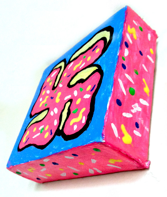 Donut Swastika - Sweet Tooth Bite Size - painting by Sinjun