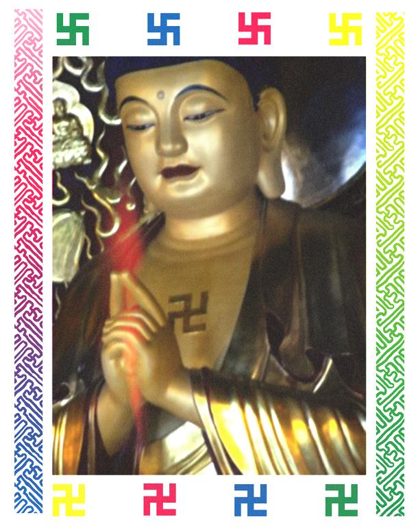 Buddha Swastika Spiritual Punx
