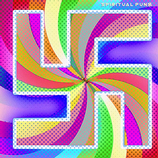 rainbow swastika
