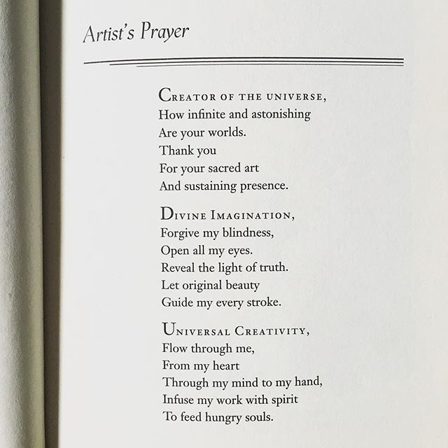 The Artist's Prayer from @alexgreycosm 's book Mission of Art. Been saying this before creating art and WOW! Absolutely powerful! Try it for yourself ;) thank you Alex for such an amazing book!