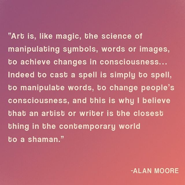 Art is magic ⚡️👁⚡️ #art #magic #quote #shaman