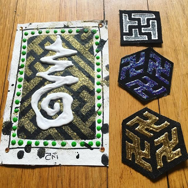 Thank you @thecrimsonmoth for those beautifully badass sacred swazi patches! Coming all the way from the UK ✨🙏✨