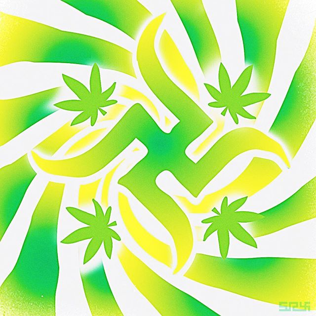 🍁 HAPPY 420 🍁  #art #LOVE #LIGHT #LIFE #LUCK #swastika #swazi  #420 #ganja #green #weed #dank #kush