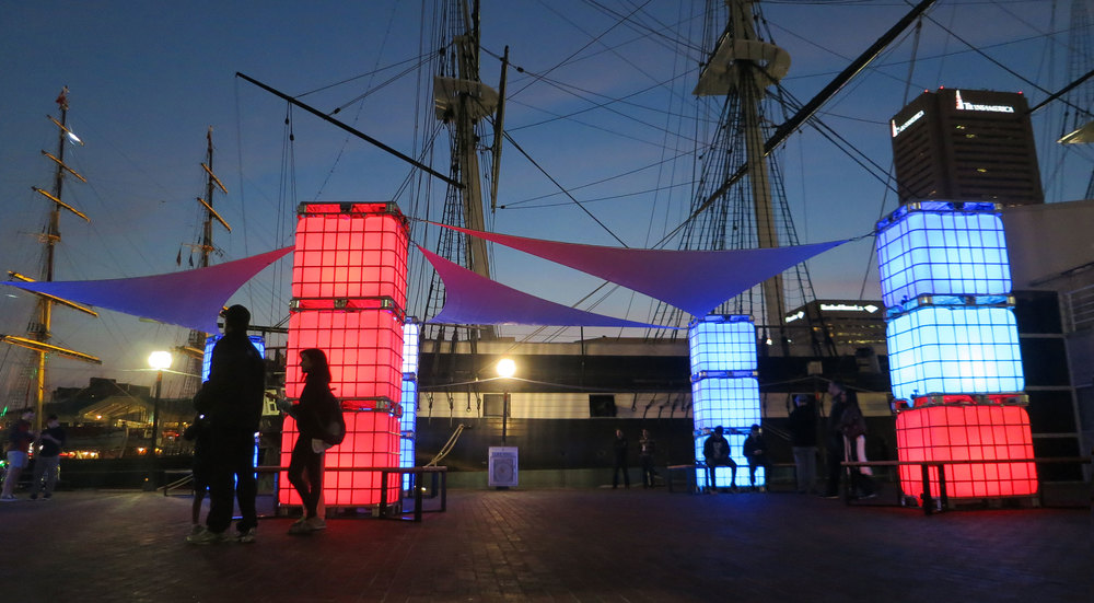 Blue Hour - Light City Baltimore