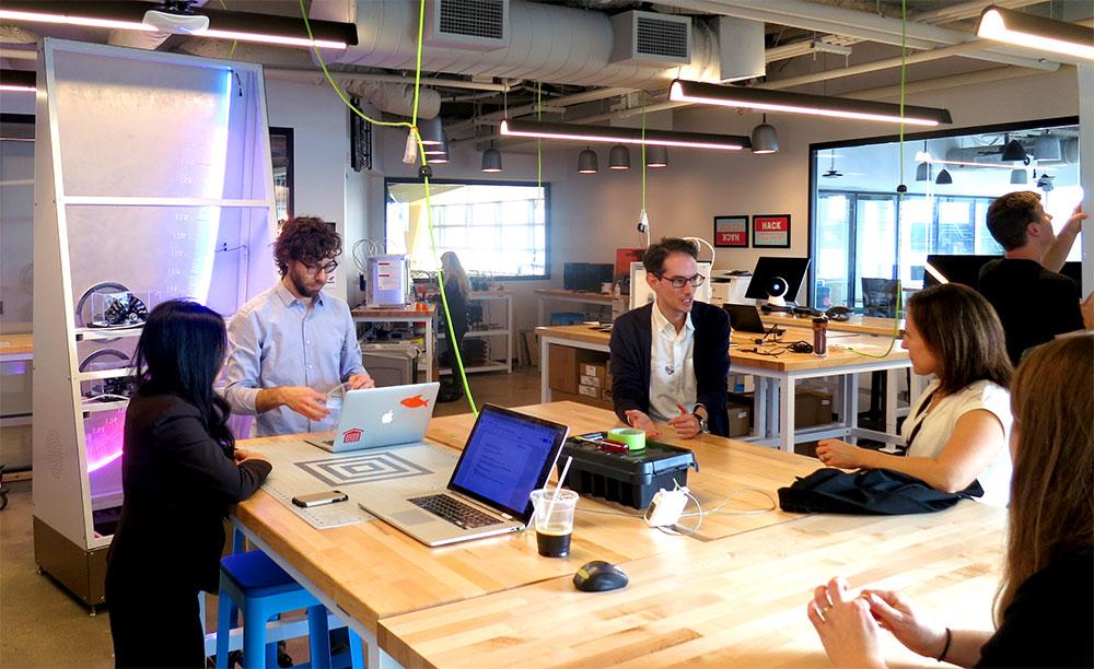 Design meetings at the Microsoft Garage