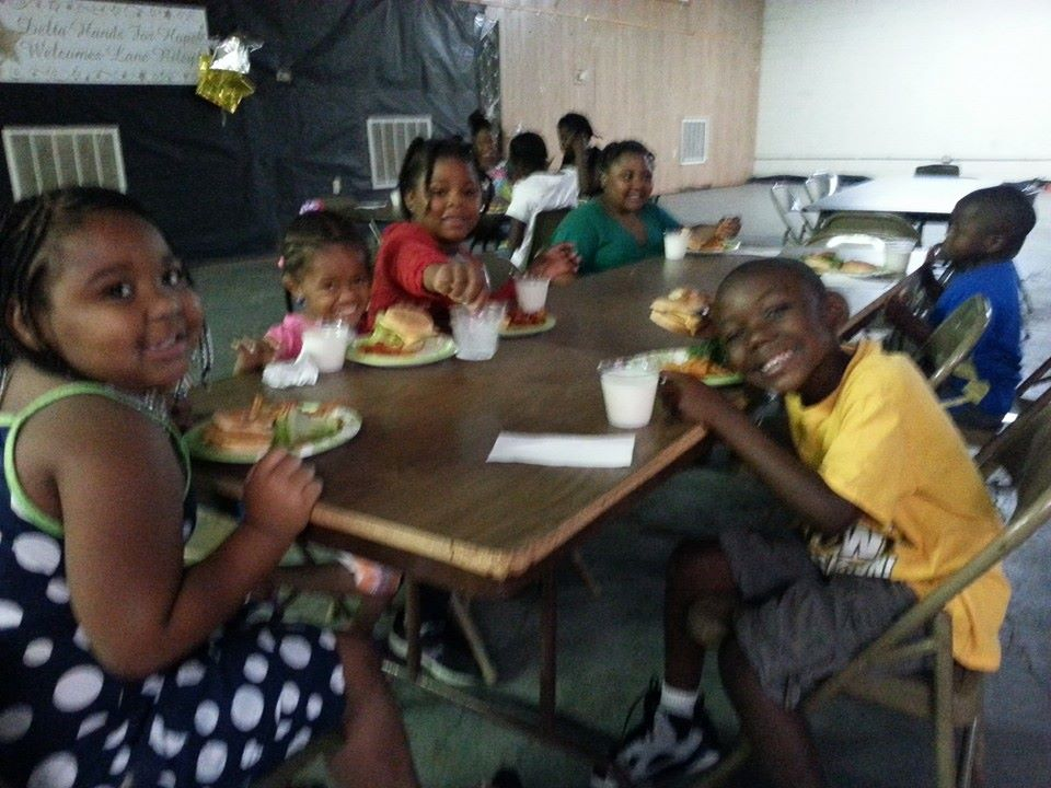 Smiling faces for the first week of the Summer Food Service Program