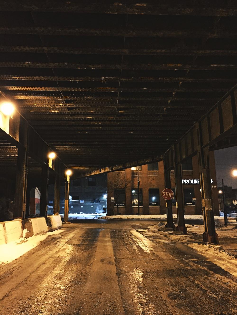 Railroad Bridge, Lessingand Chicago Ave