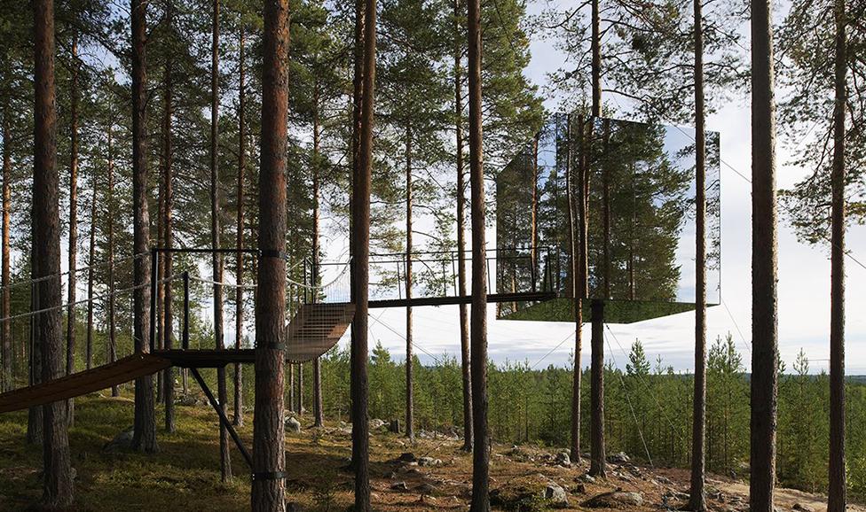 Treehotel, Mirror Cube, Sweden