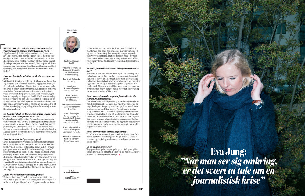 Kasper's work in Journalisten June issue.