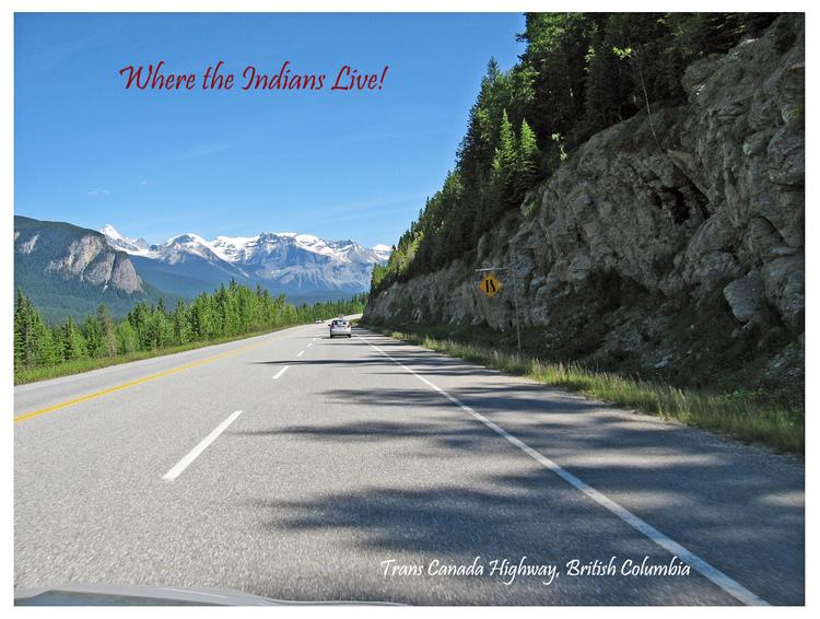 Site, BC, postcard
