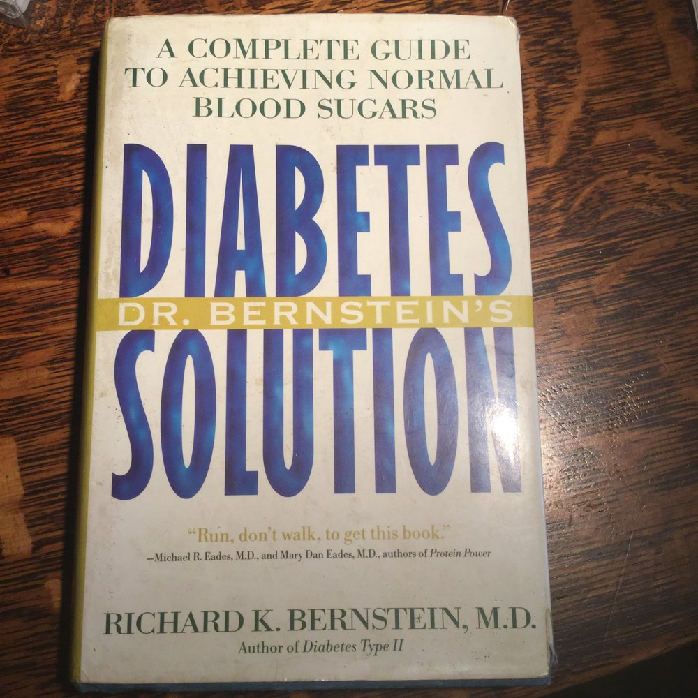 My first edition of Diabetes Solution. Well worn and loved.