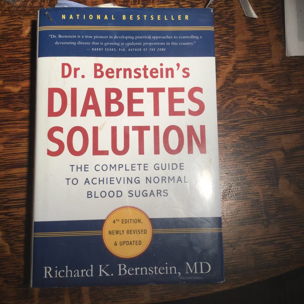 The fourth edition of Diabetes Solution, by Dr. Richard Bernstein from 2011, still well worn and loved.