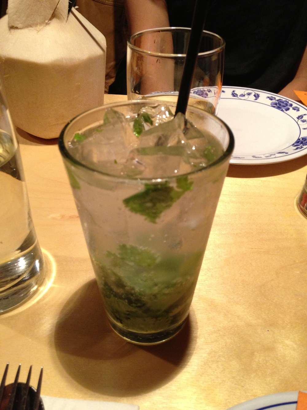 Sweet and Sour Cilantro Soda