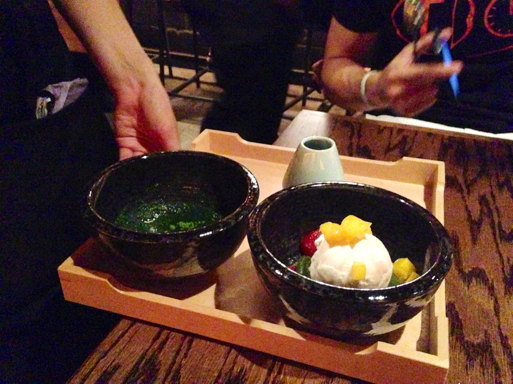 Matcha Affogart made tableside