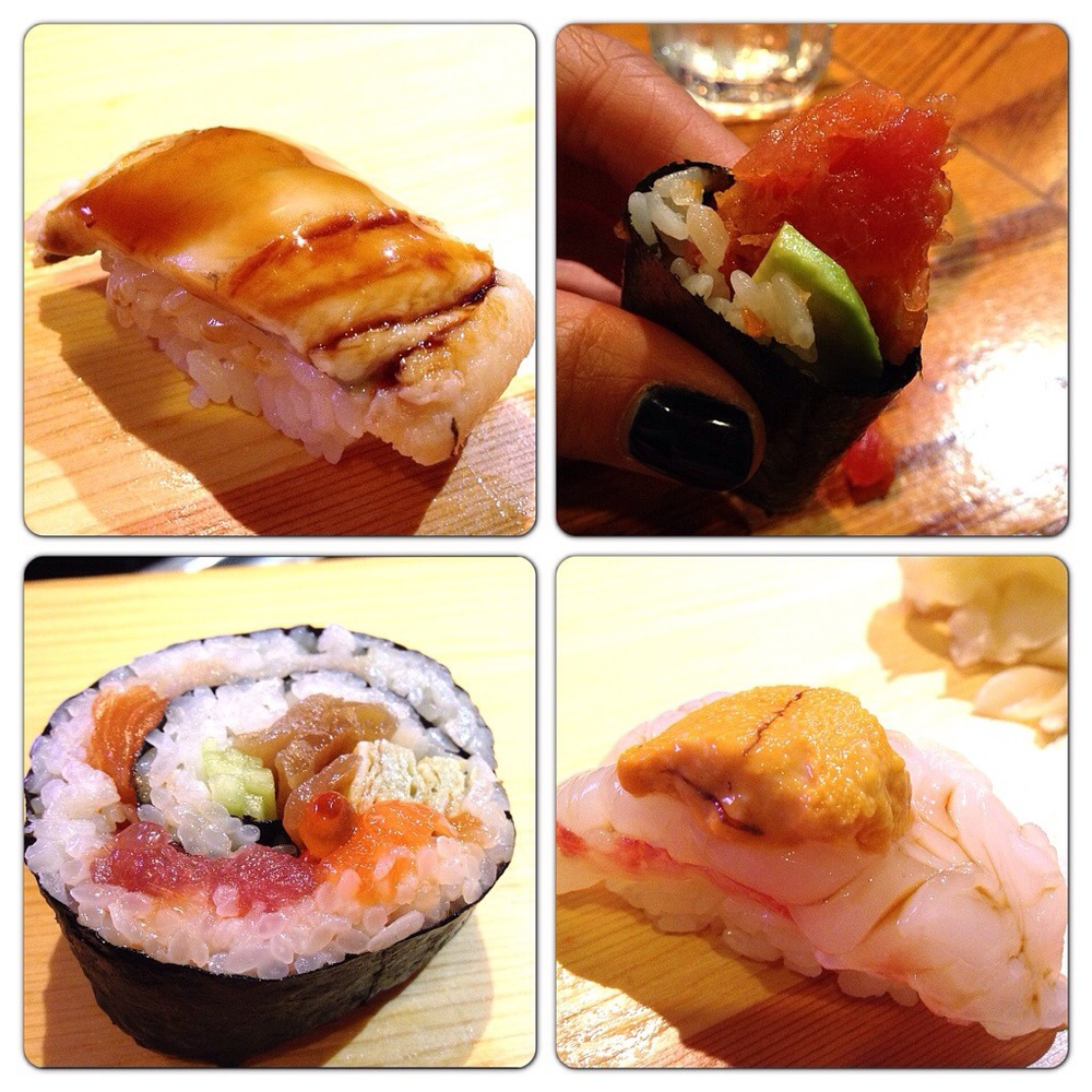 Anago, Spicy Tuna Roll, Super Maki, Uni and Botan Ebi