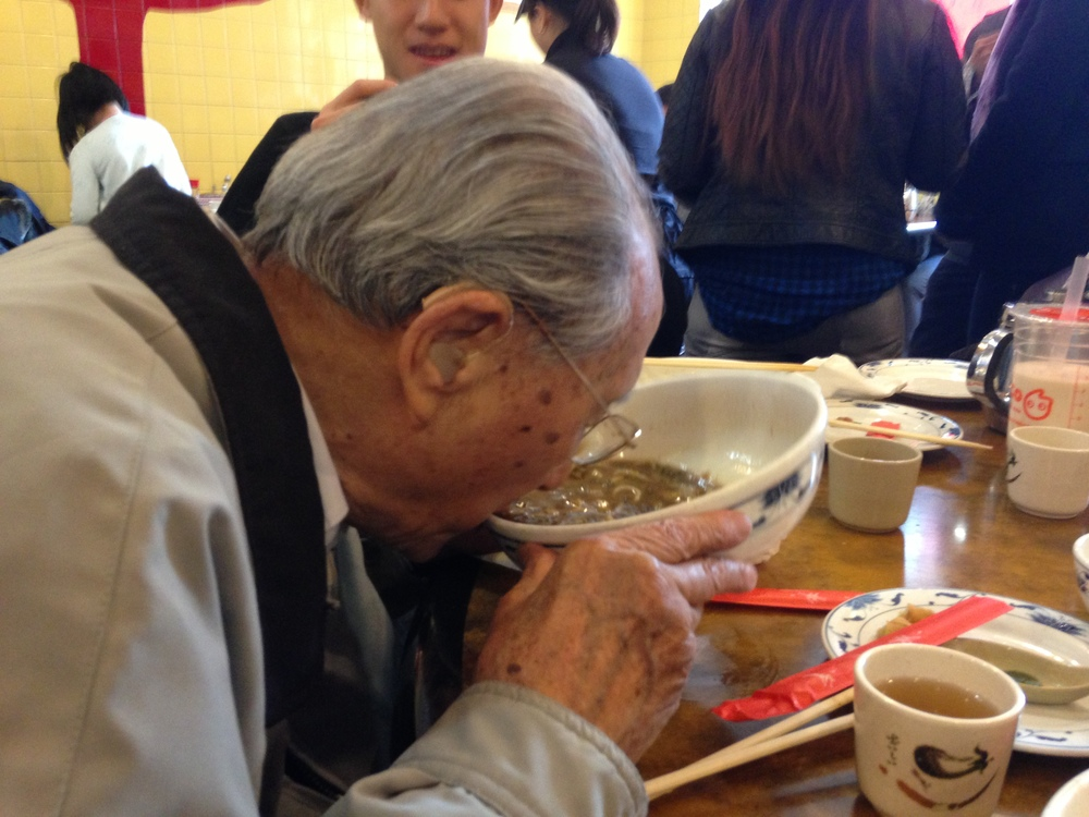 Grandpa vs. Noodles