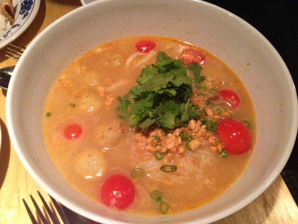 Tom Yum Fish Ball Soup