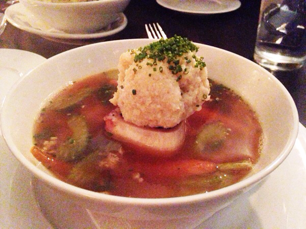 Matzoh Ball Marrow Soup