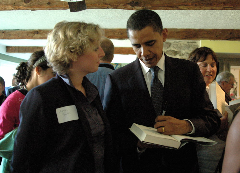 Yep, that's me with a pre-presidental Barack Obama!
