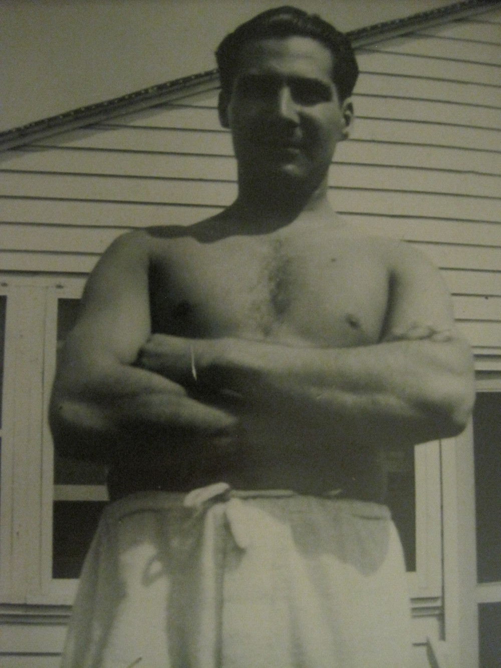My father. Camp Davis, NC, infirmary, summer 1941