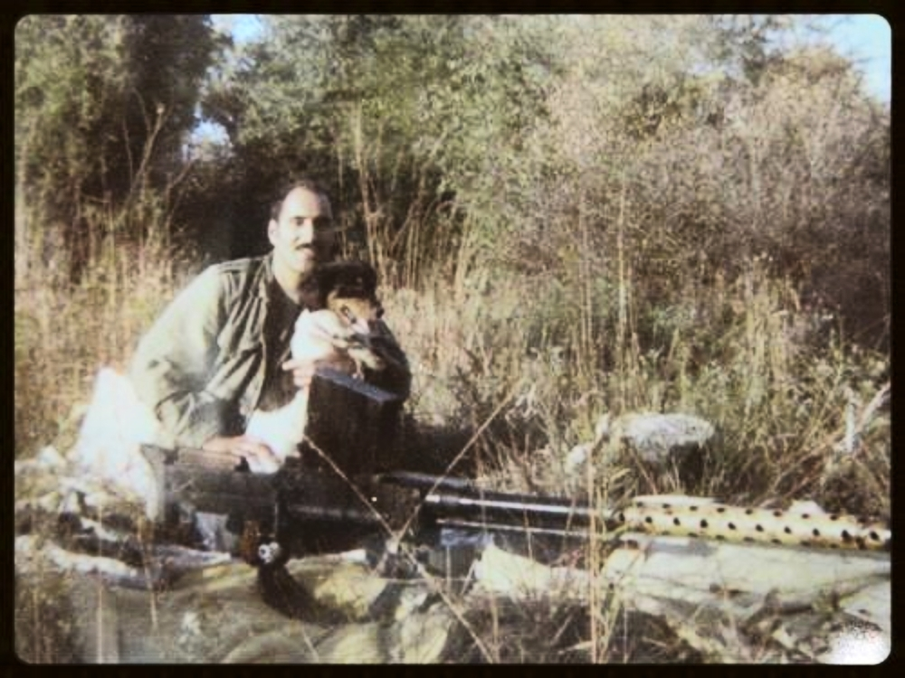 Saturday, September 21, 1974. With Trooper and my  Finnish 20mm L39 antitank cannon .