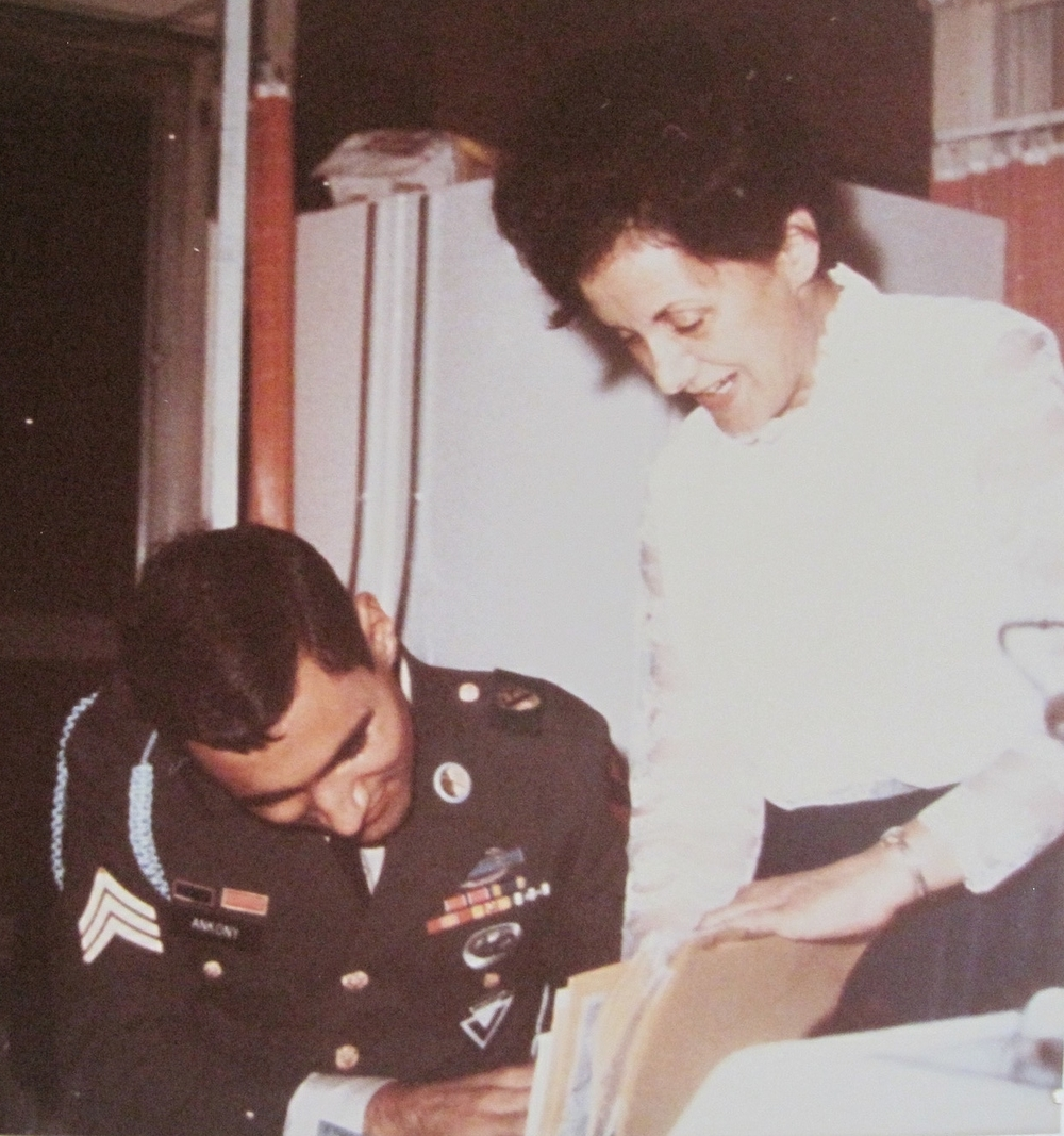 Wednesday, October 2, 1968, home from Vietnam. My mom showing the documents and letters she saved